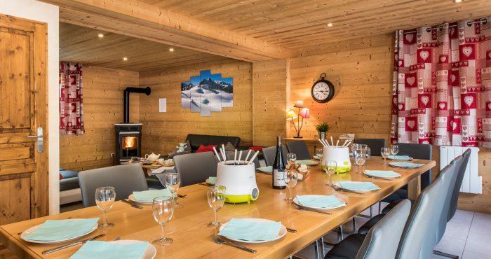 Chalet Lacuzon-Snow Dream- large table for 14