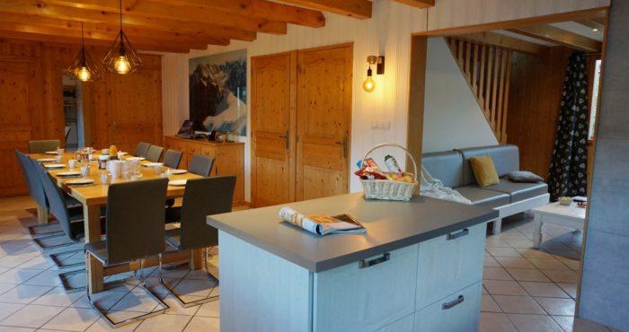 Chalets-Lacuzon Snow Valley la pièce à vivre