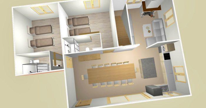 Chalets-Lacuzon Snow Valley plan 1er etage